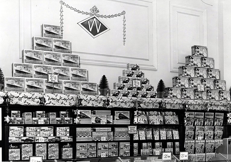 Toys at Woolworth's in the 1950s